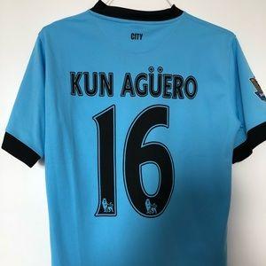 Premier League Man City Kun Agüero Jersey